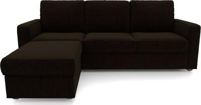 Urban Ladder Apollo Solid Wood 3 + 1 Dark Earth Sofa Set
