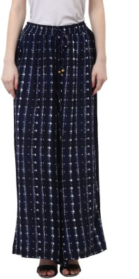 Akkriti by Pantaloons Regular Fit Women's Blue, White Trousers at flipkart