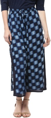 Rangmanch by Pantaloons Regular Fit Women's Blue, Black Trousers at flipkart
