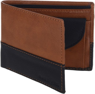 MARKQUES Men Tan Artificial Leather Wallet(4 Card Slots)