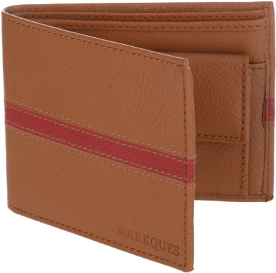 MARKQUES Men Tan Artificial Leather Wallet(3 Card Slots)