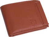 MS Men Brown Genuine Leather Wallet (6 C...