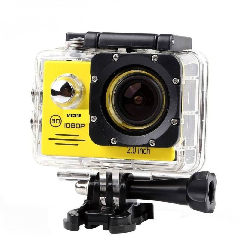 View Mezire HD Adventure camera 11 gold 130 degree Wide angle lens Sports & Action Camera(Yellow black) Price Online(Mezire)