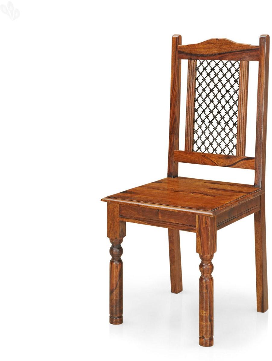 View Royal Oak Haveli Solid Wood Dining Chair(Set of 1, Finish Color - Teak) Furniture (RoyalOak)