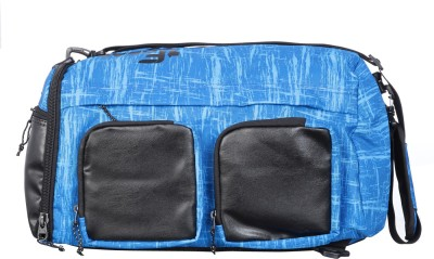 F Gear Xtreme Backpack cum Travel Duffel Bag(Black, Blue)
