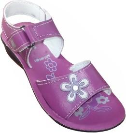 Fashion Gateway Girls Buckle Sports Sandals(Purple)