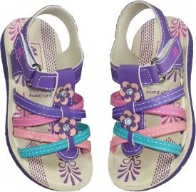 Fashion Gateway Girls Buckle Sports Sandals(Multicolor)