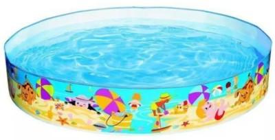 Kashish Trading Company KTC Multicolour Plastic Swimming Pool Tub 4 feet(Blue)
