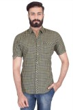 Lsd Casuals Men's Checkered Casual Linen...