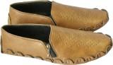 Astrac Stylish Chain Loafers (Tan)
