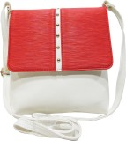 Mex Women Red, White Leatherette Sling B...