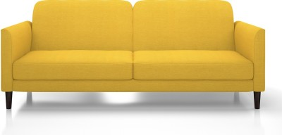 Urban Ladder Felicity Fabric Double Sofa Bed(Finish Color - Yellow Mechanism Type - Fold Out)