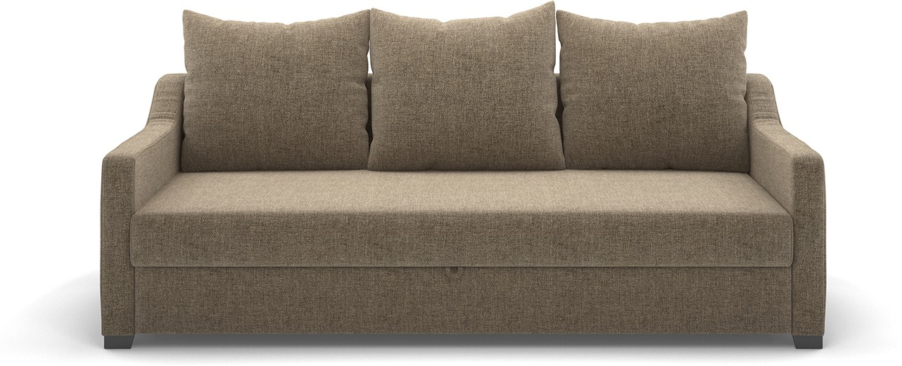 Urban Ladder Travis Double Engineered Wood Sofa Bed(Finish Color - Dark Beige Mechanism Type - Pull Out)