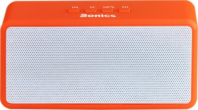 Sonics SL-BS72 FM Portable Bluetooth Mobile/Tablet Speaker(Orange, 2.1 Channel)