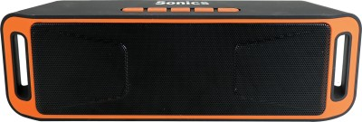 Sonics SL-BS113 FM Portable Bluetooth Mobile/Tablet Speaker(Orange, Black, 2.1 Channel)