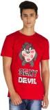 Gabi Graphic Print Men's Round Neck Red ...