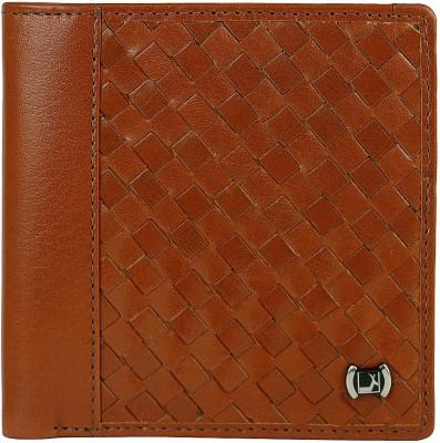 Da Milano Men Brown Genuine Leather Wallet(8 Card Slots)