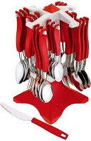 Vivir Galaxy Premium Stainless Steel Cutlery Set, 26-Pieces, Red Stainless Steel Cutlery Set(Pack of 26)