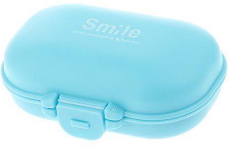 Agromech 4 slot Pill Box(Multicolor)
