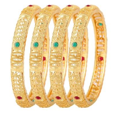 Jewels Galaxy Alloy Copper Bangle Set(Pack of 4) at flipkart