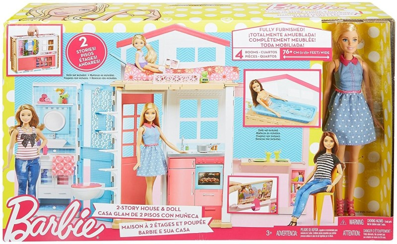 Barbie DVV48 2-Story House & Doll(Multicolor)