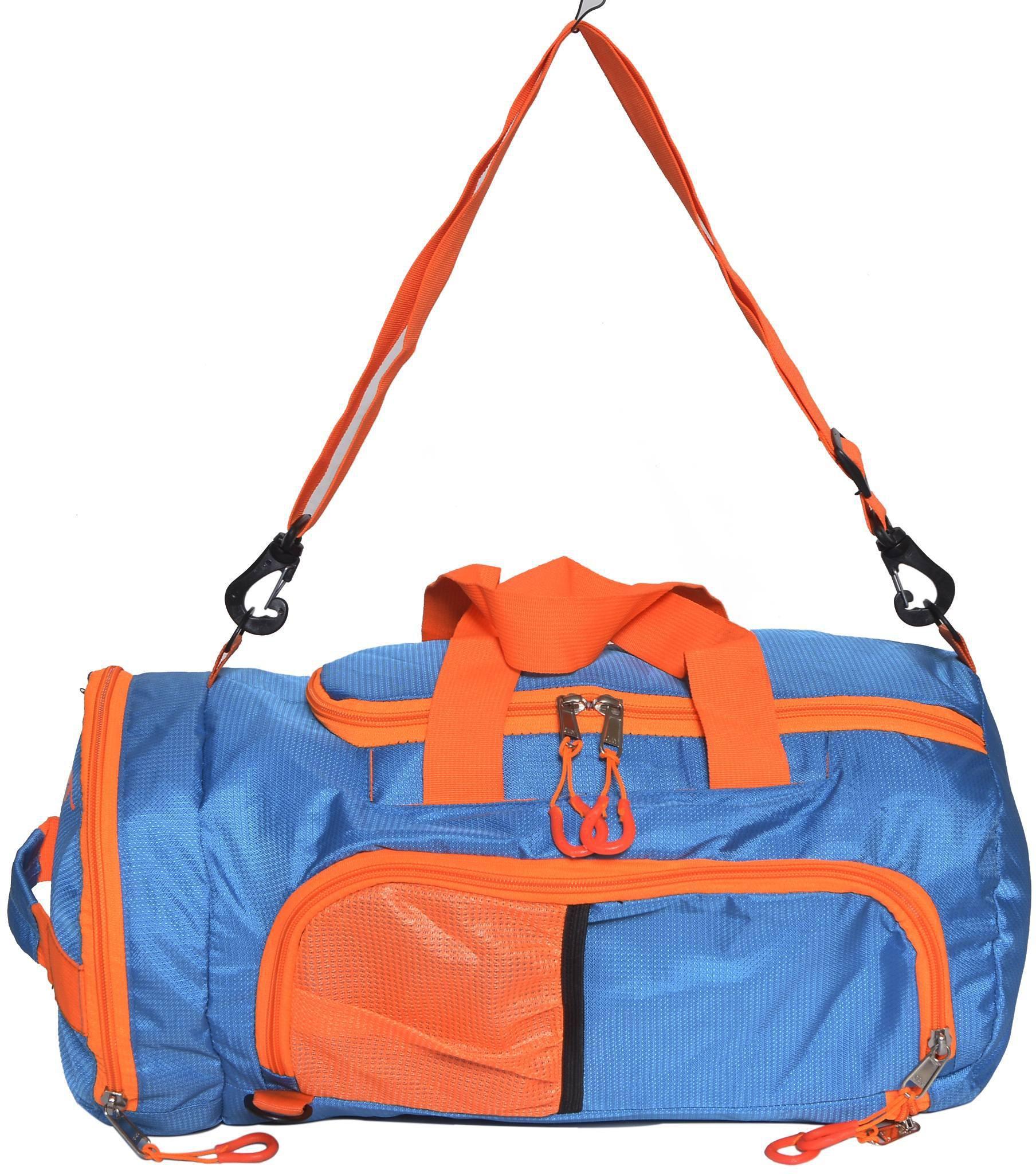 e4ee533d9a Gene MN-0304-BLUORG (Expandable) Travel Duffel Bag(Blue
