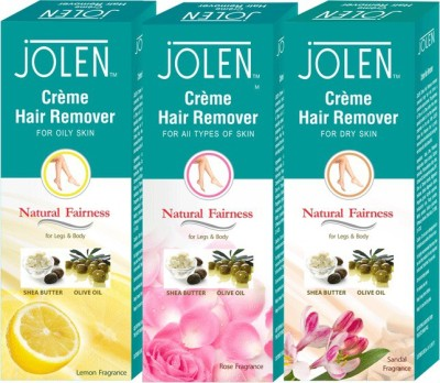 Jolen Hair Remover Combo (Pack of 3) Creme(150 ml)