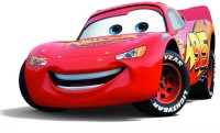 AnanyaDesigns Movie Cars Lightning Mcqueen Car Wall Poster Paper Print(12 inch X 18 inch, Rolled)