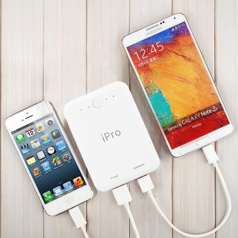 iPro IP1042 Powerbank 10400 mAh Power Bank(White, Lithium-ion)