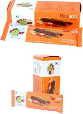 Just eat Snack on the go... Combo of Chocograin Elaichi and Cinnemon(Pack of 4 bars each) Energy Bars(8 No, elaichi, cinnamon)