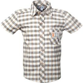 Beanie Bugs Boys Checkered Casual Beige Shirt