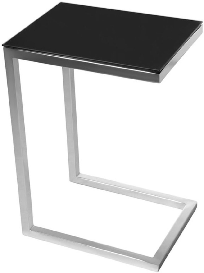 View black square Engineered Wood Bedside Table(Finish Color - walnut brown) Furniture (black square)