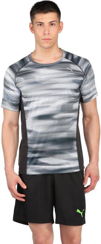 Puma Printed Men's Round Neck Grey, White T-Shirt