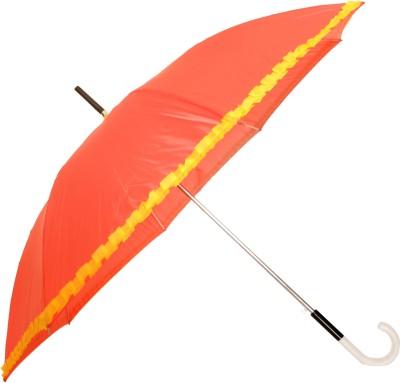 Sun Brand Chick Coral Long Frill Umbrella Umbrella(Coral, Yellow)