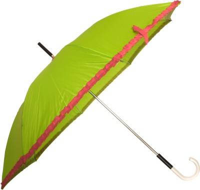 Sun Brand Chick Green Long Frill Umbrella Umbrella(Green, Red)