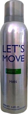 Benetton Let's Move Deodorant Spray  -  For Men(200 ml) at flipkart