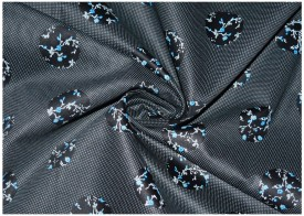 V WALKER'S Cotton Polka Print Shirt Fabric(Un-stitched)