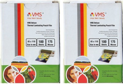 VMS Deluxe Thermal Lamination Pouch 85 x110 175 MIC Set of 2 (200 Sheet) Laminating Sheet(175 mil Pack of 2)