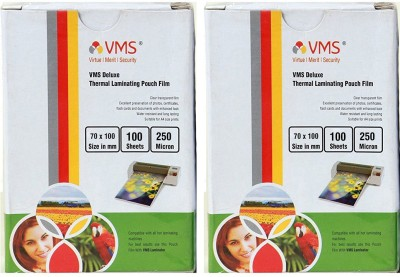 VMS Deluxe Thermal Lamination Pouch 70x100 -250 MIC Set of 2 (200 Sheet) Laminating Sheet(250 mil Pack of 2)