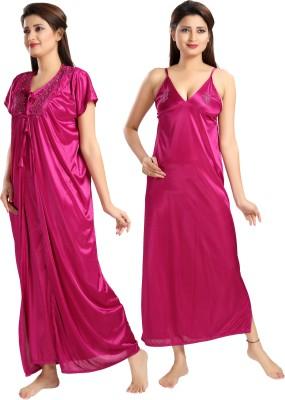 Rangmor Women's Nighty with Robe(Pink) at flipkart