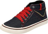 Gusto Denim Style Red Party Casuals (Bla...