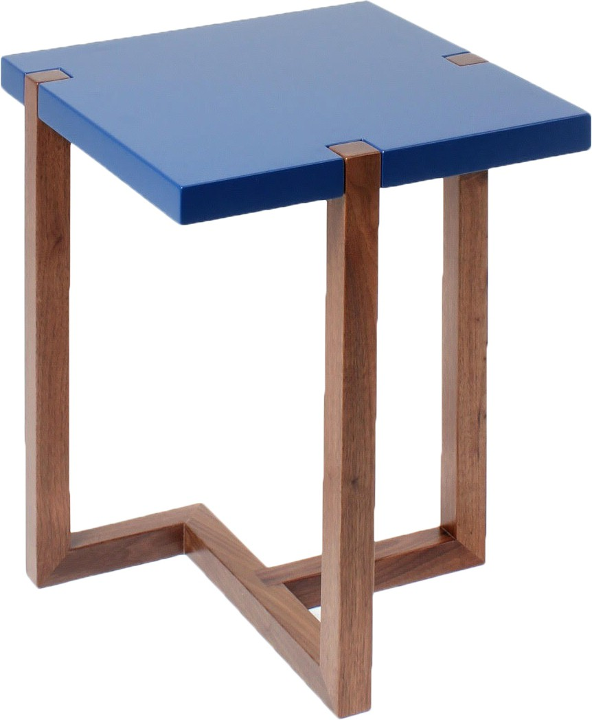 View black square Engineered Wood Side Table(Finish Color - Walnut Brown) Furniture (black square)