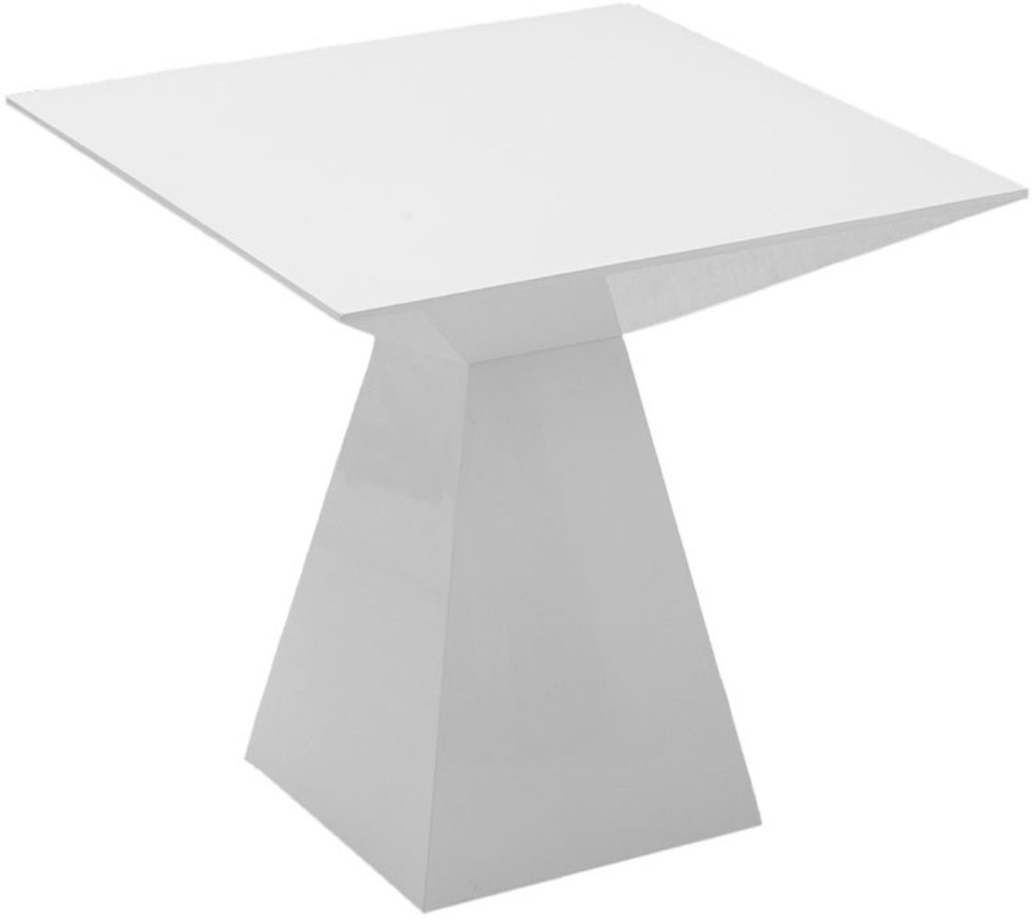 View black square Engineered Wood Side Table(Finish Color - White) Furniture (black square)