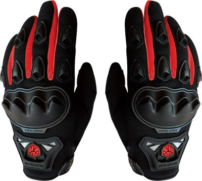 Scoyco MC29 Full Fingered Bike Riding set of 2 Driving Gloves (XL, Black, Red)