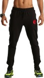 Omtex Solid Men's Black Track Pants