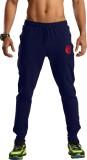 Omtex Solid Men's Blue Track Pants