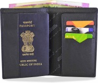 Arpera Travel Leather Passport Cover Wallet Black C11547-1(Black)