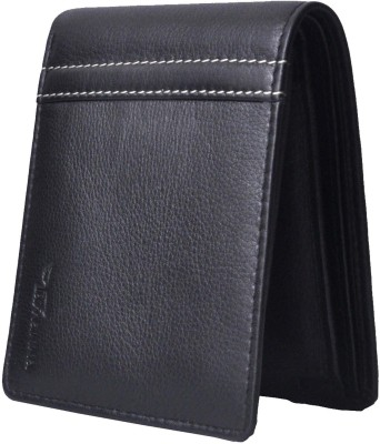 Tamanna Men Black Genuine Leather Wallet(7 Card Slots)