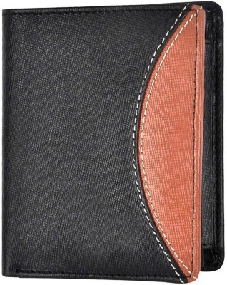 Tamanna Men Black, Tan Genuine Leather Wallet(9 Card Slots)