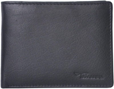 Tamanna Men Black Genuine Leather Wallet(3 Card Slots)